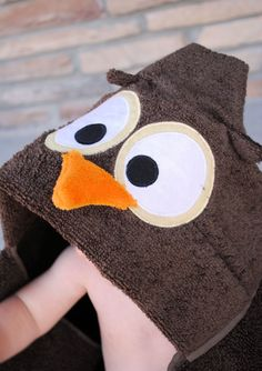 Owl Hooded Towel Pattern and Tutorial