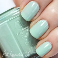 Essie Fashion Playground is a true mint green with subtle crystal flecks.