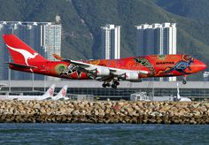 Boeing | 747-438/ER | Qantas Airways | Wunala Dreaming | VH-OEJ | Hong Kong | HKG | VHHH by Christian Junker | PHOTOGRAPHY, via Flickr