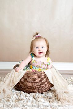 pittsburgh area 6 month old in basket photography