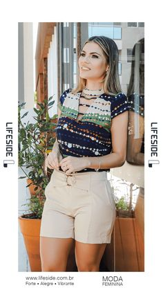 Macrame Mania – The Age-Aged Artwork Of Knotting Is Back With A Haute Couture Flavor – By Zazok White Shorts, Khaki Shorts, Summer Outfits, Cute Outfits, Dress Neck Designs, Work Attire, Blouse Styles, Beautiful Asian Girls, Women's Outfits Summer