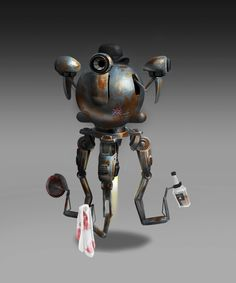 It's fanart from great game Fallout Fallout Theme, Fallout Rpg, Fallout Cosplay, Mr Handy, Fallout Tattoo, Fallout Concept Art, Nuclear Winter, Fallout New Vegas, Post Apocalypse