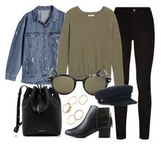 """""""Taking My Time"""" by smartbuyglasses-uk ❤ liked on Polyvore featuring Mansur Gavriel, Paige Denim, Madewell, Tom Ford, City Classified, black and denim"""
