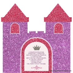 Another project by Princess Castle Flip Invites Princess Castle Flip Invites Second Page Event Details Princess . Invitation Cards, Invites, Castle Doors, Shapes For Kids, Birthday Invitations Kids, Princess Castle, Projects, Princess Sofia, Births