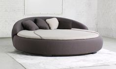 Best Round Style Storage Ottoman Gas Lift Up Bed Frame Luxury 400 x 300