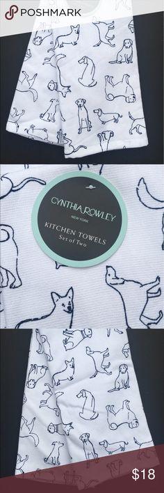 CYNTHIA ROWLEY Kitchen Towels (2) PARIS LONDON NWT Cynthia Rowley Kitchen  Towels 100% Cotton London Paris New York Set Of 2 New With Tags Cynthia Ru2026  ...