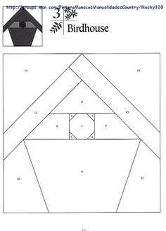 birdhouse quilt block