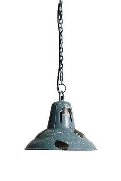 Distressed Pendant Lamp in Blue