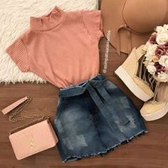 Cute Lazy Outfits, Girly Outfits, Skirt Outfits, Trendy Outfits, Cool Outfits, Mode Rock, Tumblr Outfits, Teen Fashion Outfits, Professional Outfits