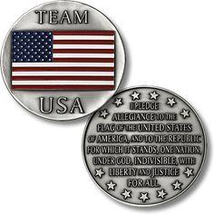 Team USA - Pledge of Allegiance Challenge Coin