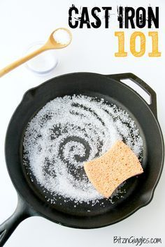 Not a recipe but great tips on using and caring for one of the most versatile tools you can have in your kitchen.  Cast Iron 101 - How to season and care for your cast iron skillet!