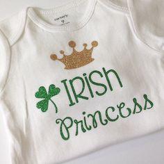 St. Patrick's Day shirt bodysuit green glitter baby by babyfables