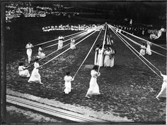 ๑ Nineteen Fourteen ๑  historical happenings, fashion, art & style from a century ago - May Day Maypole dance, 1914