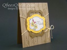 Qbee's Quest: You're Lovely Sale-a-bration Card