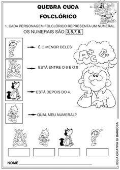 Atividade Matemática Folclore 4º Ano Quebra Cuca