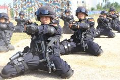 PLA Marines with QSZ-92 Pistol & QBZ-95 Assault rifle during an exercise
