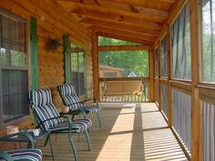 Screened in Porch - Blue Ridge Log Cabins Tryon Log Cabin Floor Plan