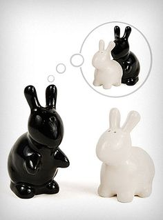 Bunny Love Salt and Pepper Shakers :P