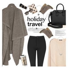 """travel ready"" by jesuisunlapin ❤ liked on Polyvore featuring STELLA McCARTNEY, Givenchy, Topshop, MANGO, Kate Spade, Sbicca, Nixon, Pamela Love, Balmain and RetroSuperFuture"