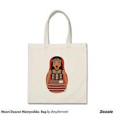 Shop Maori Dancer Matryoshka Bag created by AmyPerrotti. Swedish Girls, Flower Bag, Sentimental Gifts, Ballerina Shoes, Basketball Players, Cotton Canvas, Reusable Tote Bags, Monogram, Maori