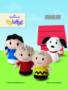 The Peanuts gang is all here! Charlie, Snoopy, Lucy and Linus all look cute in their itty bittys version.
