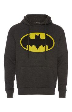 "Grauer ""Batman-Logo"" Kapuzenpullover"