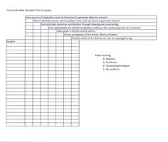 Finally a skills checklist that isn't just about cutting and gluing!!