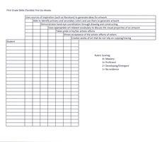 The smARTteacher Resource: First Grade Skills Checklist
