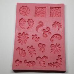 Moule en silicone embellissement pour deco fimo ou porcelaine froide plâtre pour scrap.