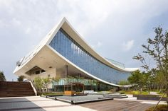 10 libraries of 2013 TOP 10 libraries of 2013 - national library of sejong city by S.TOP 10 libraries of 2013 - national library of sejong city by S. Architecture Unique, Library Architecture, Futuristic Architecture, Interior Architecture, Unique Buildings, Interesting Buildings, Amazing Buildings, Built Environment, Urban Design