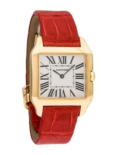 Shop authentic red watch at up to off. The RealReal is the world's luxury consignment online store. Red Watches, Unique Watches, Fine Watches, Cartier Santos, Cartier Watches Women, Cartier Panthere, Square Watch, Jewerly, Jewelry Watches