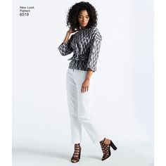New Look Pattern 6519 Misses Dress or Top and Pants or Shorts