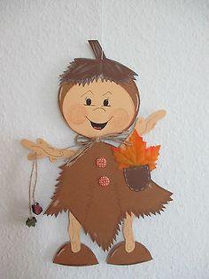 Fensterbild*Tonkarton*Kastanienmädchen *Deko*Küche*Kinder* Autumn Decorating, Fall Decor, Paper Roll Crafts, Diy And Crafts, Perro Papillon, Diy For Kids, Crafts For Kids, Fall Preschool, Autumn Crafts