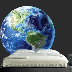 Aarde muur sticker planeet muur muurschildering door PrimeDecal