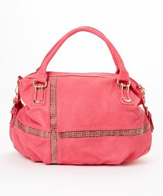 Look what I found on #zulily! MKF Collection Pink Amela Studded Shoulder Bag by MKF Collection #zulilyfinds
