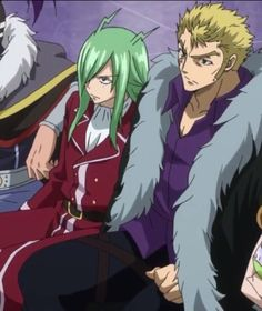Freed x Laxus. I can just imagine what Freed is thinking at this moment :D
