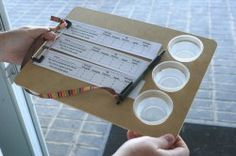 organizational ideas and a DIY clipboard for voting and simultaneous sample holding