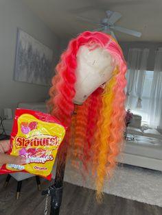 Baddie Hairstyles, Ponytail Hairstyles, Weave Hairstyles, School Hairstyles, Creative Hair Color, Colored Wigs, Braids With Weave, Lace Hair, Creative Hairstyles