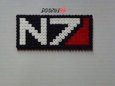 Logo N7 mass effect Perler beads hama by Sidorus00 H= 12 cm L= 6 cm