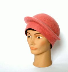 classic woman hat wool felted ROSE CLASSIC ooak by ISfelteddesign, $80.00
