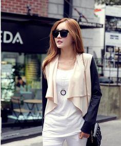 Irregular Dual Colour Cardigan (EP034743) | Sally Fashion