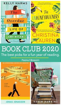 The best book club picks for 2020 for moms who want reading to be FUN The best book club picks for 2020 for busy moms who struggle to find time to read. These FUN light-hearted books are perfect for an easy-going book club everyone will love. Book Club List, Best Book Club Books, Book Club Reads, Up Book, Book Lists, Big Books, Quiet Books, Book Nerd, Books You Should Read