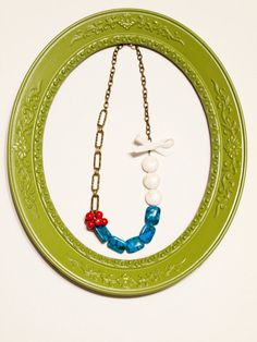 patriotic statement necklace $35