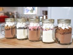 5 Hot Chocolate-In-A-Jar Recipes | Edible Gifts - YouTube