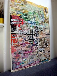 Tableau collage papier | Valy's blog