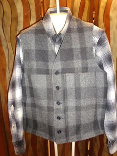 Vintage Mens Filson black & gray plaid wool hunting by Simplemiles, $75.00