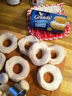 EASY-SMEASY cinnamon sugar donuts... hmm.