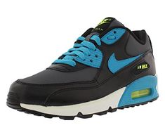 official photos aa53a d6b11 Nike Air Max 90 Boys Running Shoes Size US 55 Regular Width Color BlackSky  Blue   Want to know more, click on the image. (This is an affiliate link)    ...