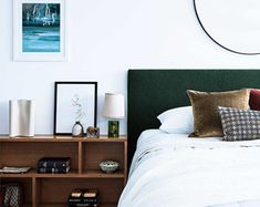 Home Design, Interiors, Outdoor, Renovation Ideas and Inspiration, These ten homes have shown how Californian bungalows are perfectly suited to the modern Australian lifestyle. Coastal Bedrooms, Modern Bedroom, Modern Bedding, Fur Vintage, Bed Design, House Design, Design Bedroom, Portugal, Bedding Sets Online