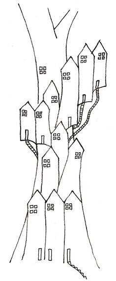 Doodle of a tree house or is that a tree of houses
